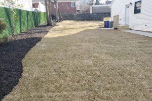 Curb, sidewalk, walkways plus sod and mulch of all gardens